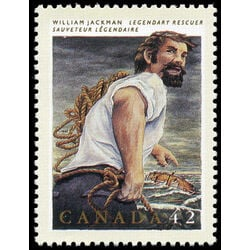 canada stamp 1433 william jackman rescuer 42 1992