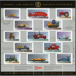 historic land vehicles pane of 25