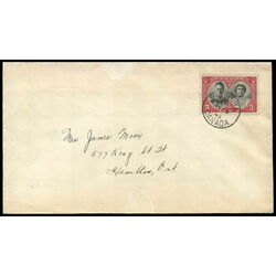 canada stamp 248 king george vi queen elizabeth 3 1939 fdc 009
