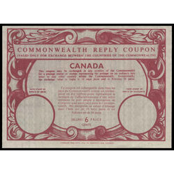 canada revenue stamp icrc14 imperial and commonwealth reply coupons 6 1975
