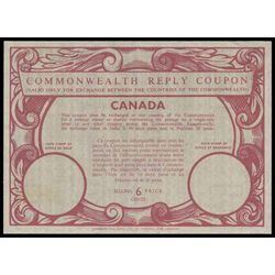 canada revenue stamp icrc15 imperial and commonwealth reply coupons 6 1975
