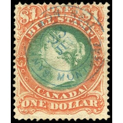 canada revenue stamp fb33 second bill issue 1 1865