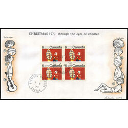 canada stamp 525pi children and christmas tree 1970 fdc 002