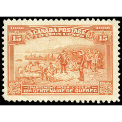 canada stamp 102 champlain s departure 15 1908 m vfnh 018
