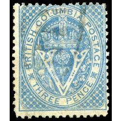 british columbia vancouver island stamp 7a seal of british columbia 3d 1865 u f 011