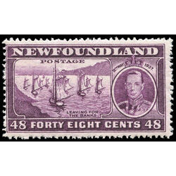 newfoundland stamp 243ii fishing fleet 48 1937 m f 001