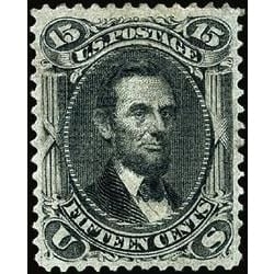 us stamp postage issues 98 lincoln 15 1867