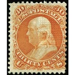 us stamp postage issues 100 franklin 30 1867