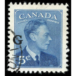 canada stamp o official o20 king george vi postes postage 5 1950 u vf 001