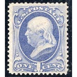 us stamp postage issues 156 franklin ultramarine 1 1873