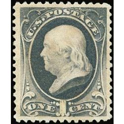 us stamp postage issues 206 franklin 1 1881