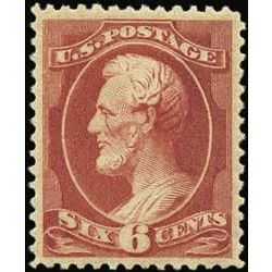 us stamp postage issues 208 lincoln 6 1881