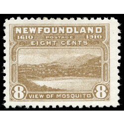 newfoundland stamp 93 view of mosquito 8 1910 m f vf 003