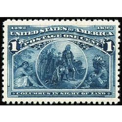 us stamp postage issues 230 in sight of land 1 1893
