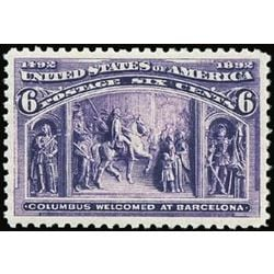 us stamp postage issues 235 columbus at barcelona 6 1893