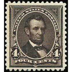 us stamp postage issues 254 lincoln 4 1894