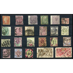 23 great britain used stamp collection