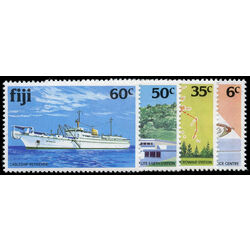 fiji stamp 445 8 operator assistance center and satellite 1981