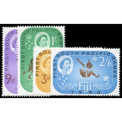 fiji stamp 199 202 1st south pacific games suva 1963