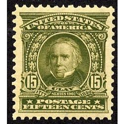 us stamp postage issues 309 clay 15 1902
