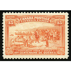 canada stamp 102 champlain s departure 15 1908 m vfnh 022