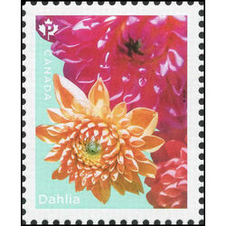 canada stamp 3234b dahlia yellow pink flowers 2020