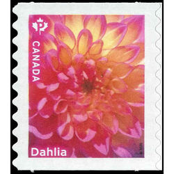 canada stamp 3235i dahlia single pink flower 2020