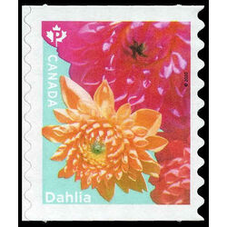 canada stamp 3236 dahlia yellow pink flowers 2020