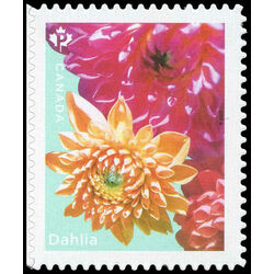 canada stamp 3238 dahlia yellow pink flowers 2020
