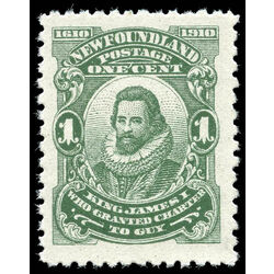 newfoundland stamp 87xix king james i 1 1910