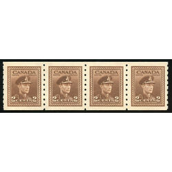 canada stamp 264strip king george vi 1942