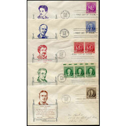 5 early united states first day covers