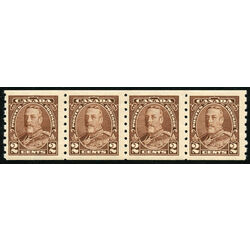 canada stamp 229strip king george v 1935