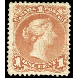 canada stamp 22 queen victoria 1 1868 m vf 014