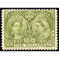 canada stamp 65 queen victoria jubilee 5 1897 m f vf 025
