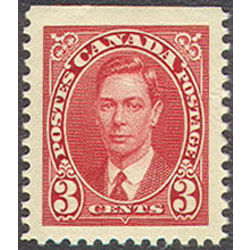 canada stamp 233as king george vi 3 1937