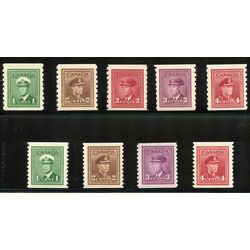 canada king george vi war issue coil stamps