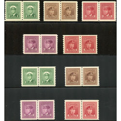 canada king george vi war issue coil pair stamps