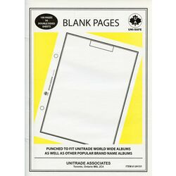 blank pages for 9 x 12 2 holes stamp albums