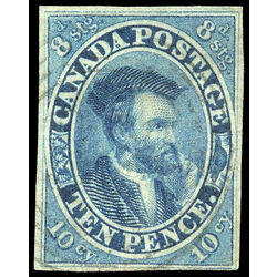 canada stamp 7 jacques cartier 10d 1855 u vf 021