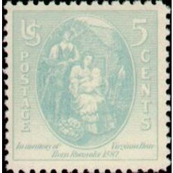 Us Stamp Postage Issues 796 Virginia Dare Parents 5 1937