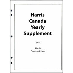 annual supplement for the harris canada stamp album