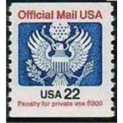 us stamp o officials o136 official mail great seal 22 1983