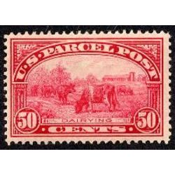 us stamp q parcel post q10 dairying parcel post 50 1913