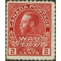 canada stamp mr war tax mr2a war tax 2 1915