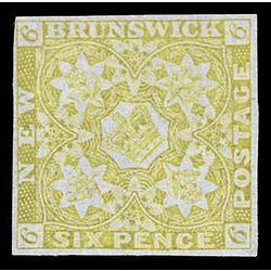 new brunswick stamp 2 pence issue 6d 1851