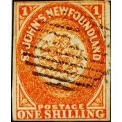 newfoundland stamp 15 1860 second pence issue 1sh 1860
