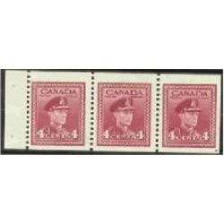 Canada stamp 254b king george vi in army uniform 1943
