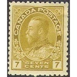 canada stamp 113b king george v 7 1912