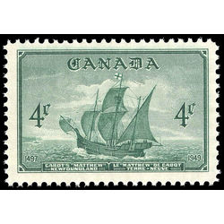 canada stamp 282 cabot s ship mathew 4 1949